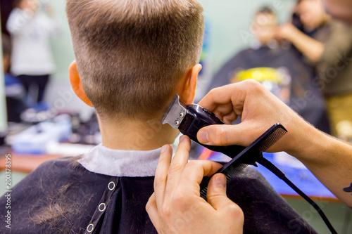 kid in barbershop