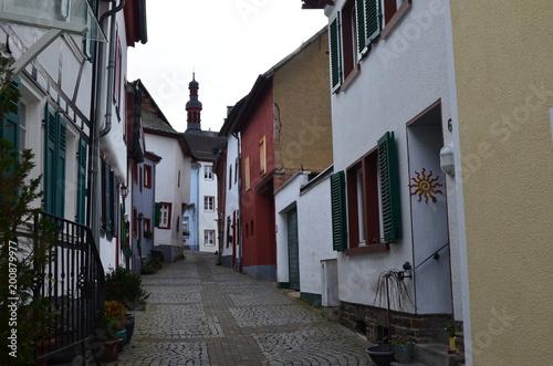 Plexiglas Smalle straatjes Münstereifel