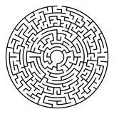 Maze labyrinth. Circular game isolated on background - 200884369
