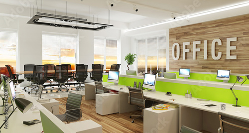 Modern office interior - 200890952