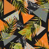 Abstract summer geometric seamless pattern. - 200891162