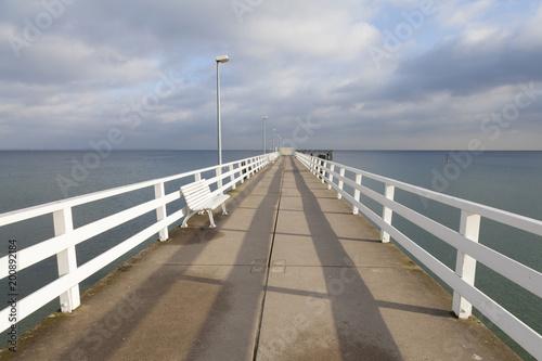 Leinwanddruck Bild Seebrücke, Timmendorfer Strand,  Ostseeküste,  Lübecker Bucht, Schleswig-Holstein, Deutschland