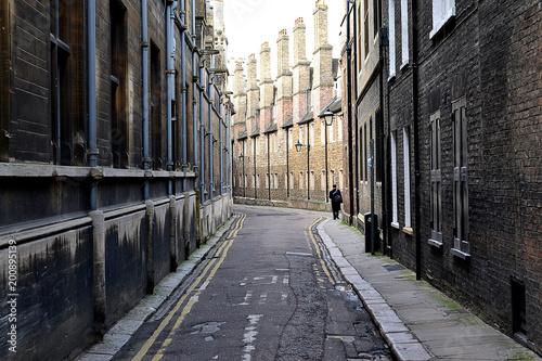 Plexiglas Smalle straatjes Quiet street in Cambridge