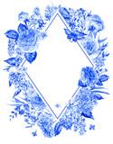 Vertical watercolor roses greeting card - 200895948