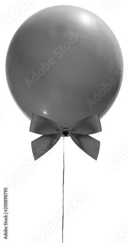 Fotobehang Bol ballon en tenue de soirée avec noeud papillon noir