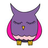 vector isolated cute cartoon owl character