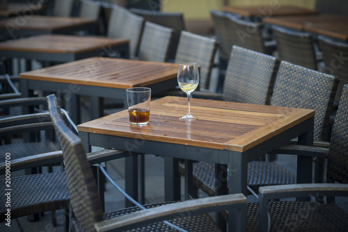 Table with wine