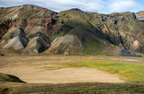 Volcanic mountains of Landmannalaugar in Fjallabak Nature Reserve. Iceland