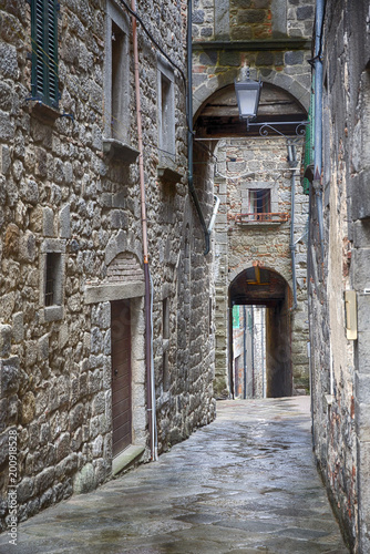 Old town with narrow alleys