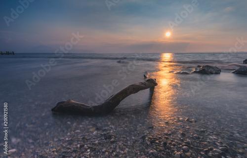 Fotobehang Zee zonsondergang Sonnenuntergang Chiemsee4
