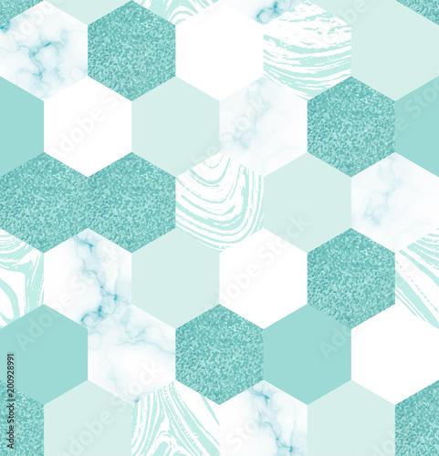 Wzór z marmurowymi sześciokątami