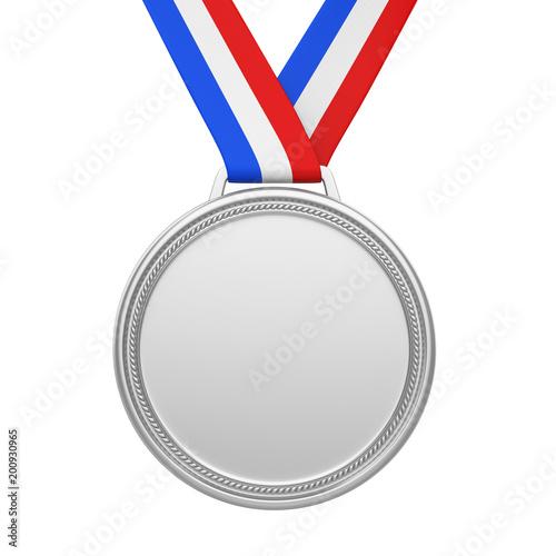 Drugie miejsce Srebrny Medal na białym tle