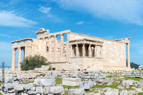 Keuken foto achterwand Athene The Porch of the Caryatids at the Erechtheion temple on the Acropolis, Athens, Greece.