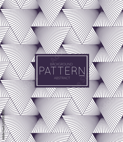 Dark blue on white Abstract geometric vector pattern - 200934300