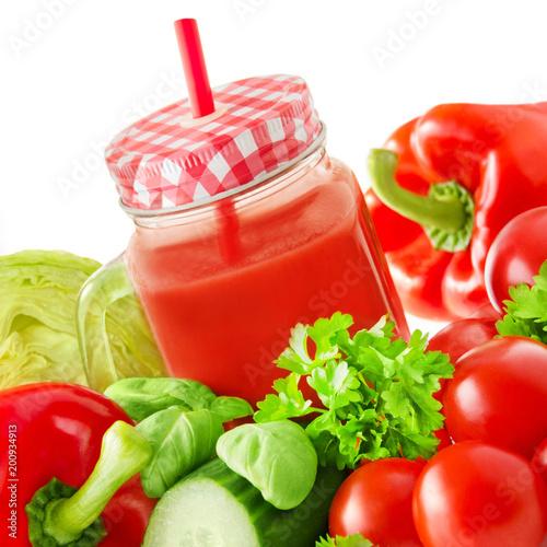 Fotobehang Sap Smoothie - Vegetables and fruits