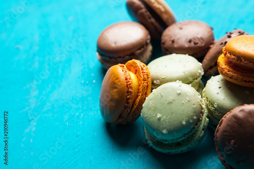 Fotobehang Macarons Assortment of macaron cookies