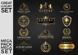 Great Luxury Set, Royal and Elegant Logo Template Vector Design Eps 10 - 200950123