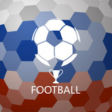 Soccer ball on abstract background - 200953996