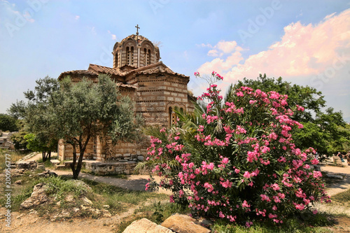 Typical stone church, Greece