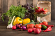 Fresh healthy organic vegetables. Food background - 200957316