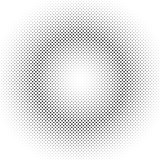 Geometric halftone circle pattern background - vector graphic from dots