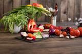 Fresh healthy organic vegetables. Food background