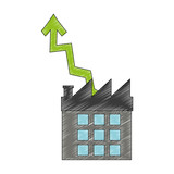Company with profits symbol vector illustration graphic design - 200958545