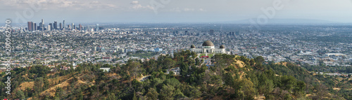 Los Angeles Panorama from Hollywood Hills, Griffith Observatory