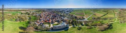 Luftbild Herrnsheim Richtung Süden 360 Grad Panorama - 200969566