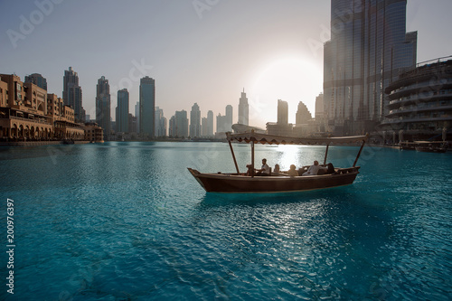 Foto op Plexiglas Dubai Great view of the sunset in Dubai