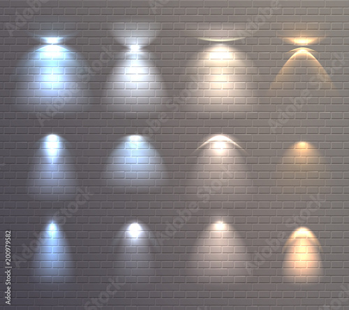 Light Effects Brick Wall Set Buy Photos Ap Images Detailview