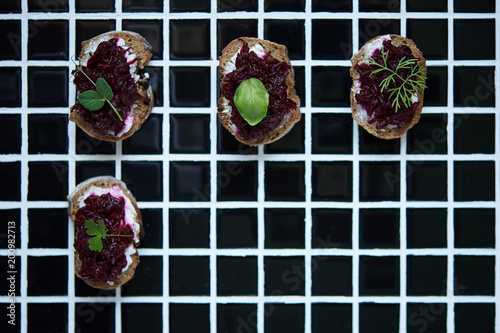 appetizers in nordic style