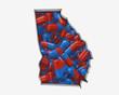 Georgia GA Pills Drugs Health Care Insurance Map 3d Illustration