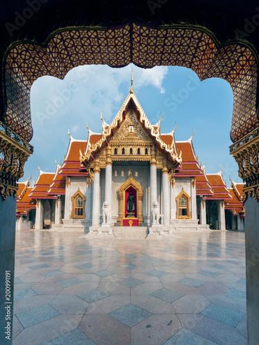 Tuinposter Bangkok Wat Benchamabophit Dusitvanaram or