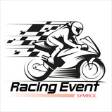 Vector illustration, Racing event symbol