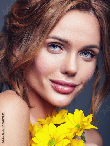 Beauty Fashion Portrait Of Young Blond Woman Model With