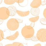 Orange fruit graphic color seamless pattern background sketch illustration vector - 201008521