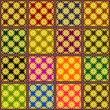 patchwork background with flowers  - 201012598