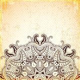 Vintage background with round oriental ornament