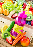 Gemüse, Früchte und Smoothie
