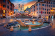Quadro Rome. Cityscape image of Spanish Steps in Rome, Italy during sunrise.