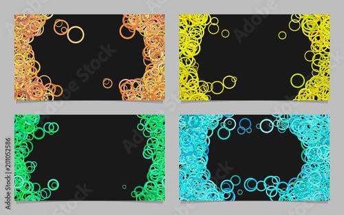 Losowe koło tła zestaw szablonów wizytówek - grafiki wektorowej