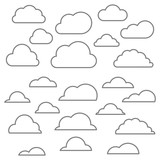 Cloud line icon