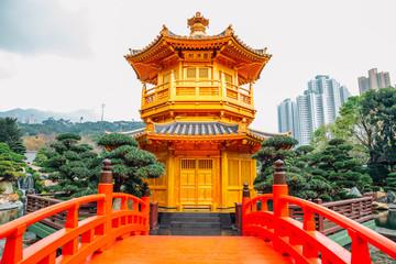 Oriental pavilion in Nan Lian garden, Hong Kong