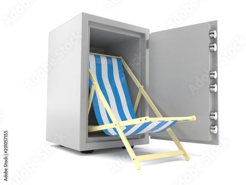 Deck chair inside safe - 201057155
