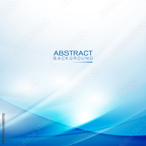 abstract smooth light wave and flow blue background with blank space for your element.