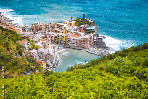 In de dag Liguria Town of Vernazza, Cinque Terre, Italy