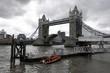 Tower Bridge geöffnet, Tower Bridge, Themse, London, England, Großbritannien, Europa - 201063916