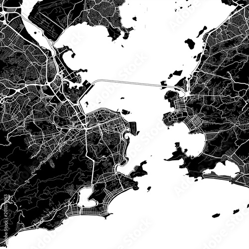 Area map of Rio de Janeiro, Brazil