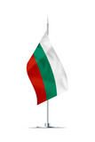 Small Flag of Bulgaria on a Metal Pole - 201074300
